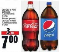 Coca-cola Or Pepsi Soft Drinks 2 L