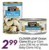 Clover Leaf Ocean Clams