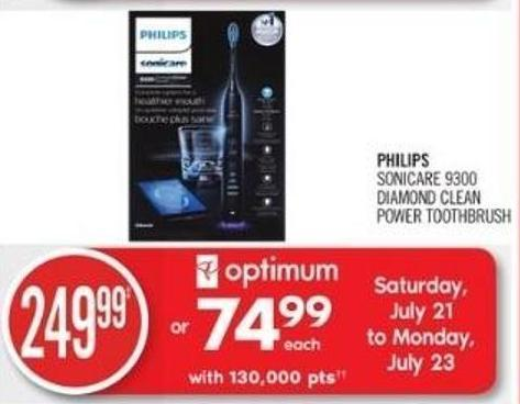 Philips Sonicare 9300 Diamond Clean Power Toothbrush