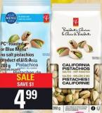 PC Roasted Or Blue Menu No Salt Pistachios - 280 g
