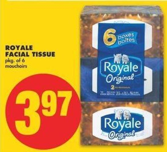 Royale Facial Tissue - Pkg Of 6