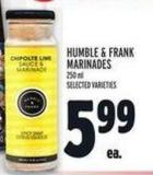 Humble & Frank Marinades 250 ml