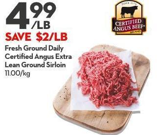 Fresh Ground Daily Certified Angus Extra