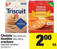 Christie 100-454 g Or Keebler 260-391 g Crackers