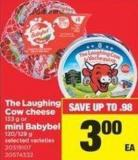 The Laughing Cow Cheese - 133 g Or Mini Babybel - 120/129 g