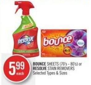 Bounce Sheets (70's - 80's) or Resolve Stain Removers
