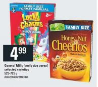 General Mills Family Size Cereal - 525-725 g