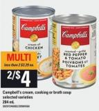 Campbell's Cream - Cooking Or Broth Soup - 284 Ml