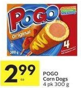Pogo Corn Dogs 4 Pk 300 g