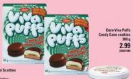 Dare Viva Puffs Candy Cane Cookies - 300 G