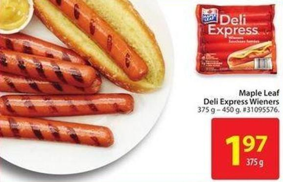 Maple Leaf Deli Express Wieners