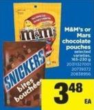 M&m's Or Mars Chocolate Pouches - 165-230 g