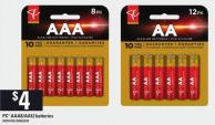 PC Aaa8 & Aa12 Batteries
