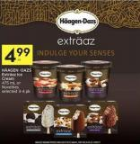 Häagen -Dazs Exträaz Ice Cream 475 mL or Novelties Selected 3-4 Pk