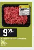 PC Free From Lean Ground Beef Fresh