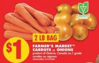 Farmer's Markettm Carrots Or Onions - 2 Lb Bag