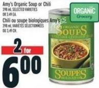 Amy's Organic Soup Or Chili 398 ml