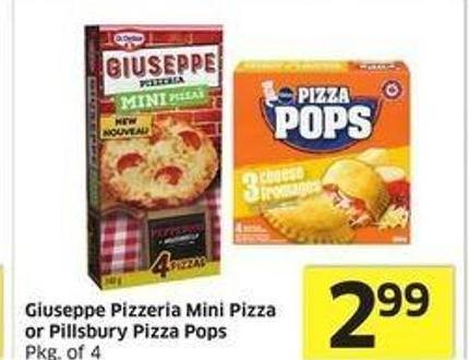 Giuseppe Pizzeria Mini Pizza or
