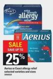 Aerius Or Exact Allergy Relief