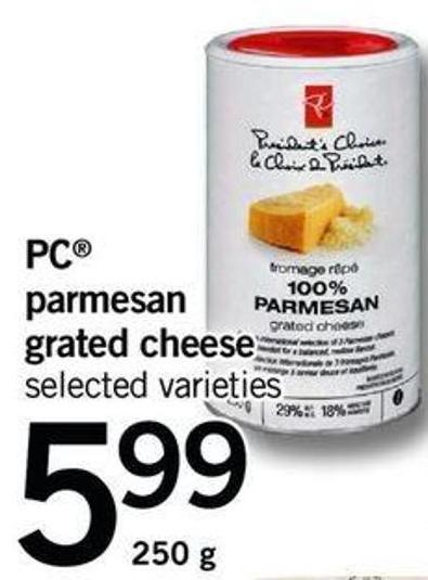 PC Parmesan Grated Cheese - 250 G