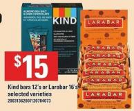 Kind Bars 12's Or Larabar 16's