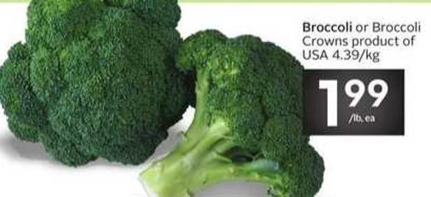 Broccoli or Broccoli Crowns