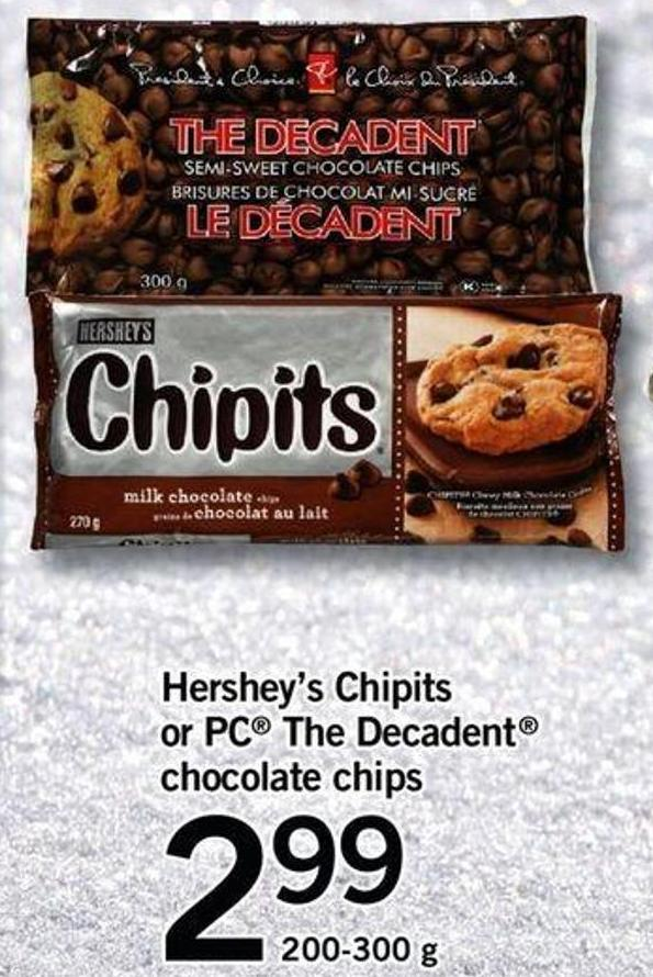 Hershey's Chipits Or PC The Decadent Chocolate Chips - 200-300 G