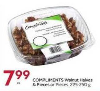 Compliments Walnut Halves & Pieces or Pieces 225-250 g
