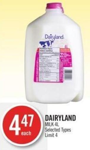 Dairyland Milk 4l