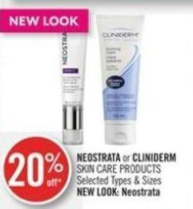 Neostrata or Cliniderm Skin Care Products