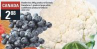 Blueberries 340 G Product Of Canada - Canada No. 1 Grade Or Large White Cauliflower