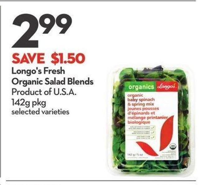 Longo's Fresh Organic Salad Blends