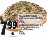 New Zealand Spring Lamb Mediterranean Boneless Lamb Leg