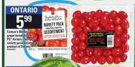 Farmer's Market Grape Tomatoes 2 Lb - PC Axiany Cherry Or Variety Pack Tomatoes 681 g