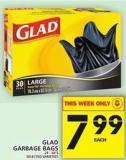 Glad Garbage Bags - 24-40's