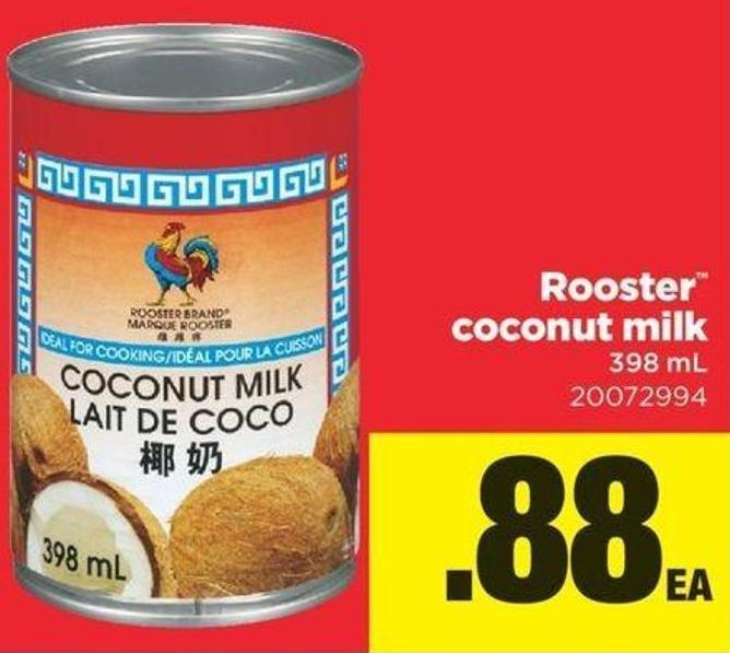 Rooster Coconut Milk - 398 Ml