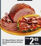 PC Natural Choice Deli Meat Deli Sliced