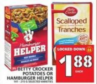 Betty Crocker Potatoes Or Hamburger Helper
