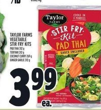Taylor Farms Vegetable Stir Fry Kits