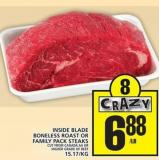 Inside Blade Boneless Roast Or Family Pack Steaks