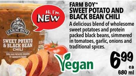 Farm Boy  Sweet Potato And Black Bean Chili 680 ml