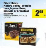 Fibre 1 Bars - Nature Valley Protein Bars - Layered Bars - Biscuits Or Breakfast Squares - 125-210 g