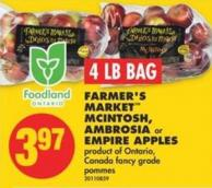 Farmer's Market Mcintosh - Ambrosia or Empire Apples - 4 Lb Bag