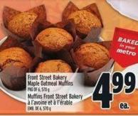 Front Street Bakery Maple Oatmeal Muffins