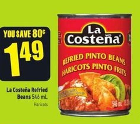 La Costeña Refried Beans 546 mL