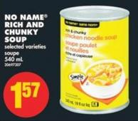 No Name Rich And Chunky Soup - 540 mL