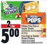 Pillsbuy Pizza Pops Or Toaster Strudel