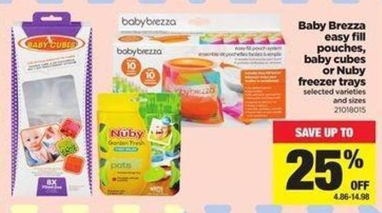 Baby Brezza Easy Fill Pouches - Baby Cubes Or Nuby Freezer Trays
