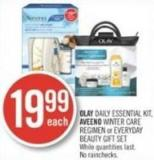 Olay Daily Essential Kit - Aveeno Winter Care Regimen or Everyday Beauty Gift Set