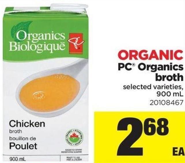 Organic PC Organics Broth - 900 mL